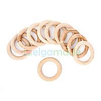 Кольцо деревянное 42 мм, бук, 1 шт