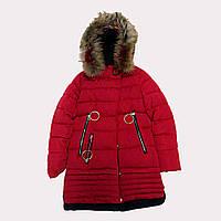 Пальто зимнее для девочки Lusiming 1723, В наличии, Красный, 146