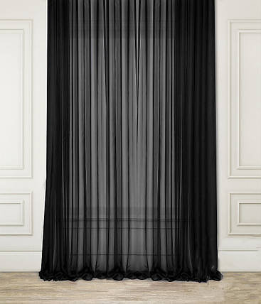"Тюль Вуаль Черная 400х270см ""Декор Текстиль"" (Арт.25045), фото 2"