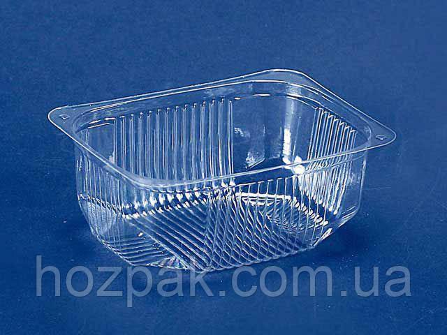 Контейнер пластиковий для салатів і напівфабрикатів ПС-181 (V200мл\117*84*38) (50 шт)