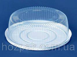 Упаковка з полістиролу для торта ПС-241 (V3000мл)Ф260*85 (200 шт)