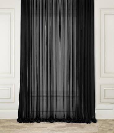 "Тюль Вуаль Черная 600х270см ""Декор Текстиль""  (Арт.25047), фото 2"