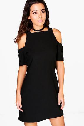 Новое черное платье с вырезами на плечах Boohoo, фото 2