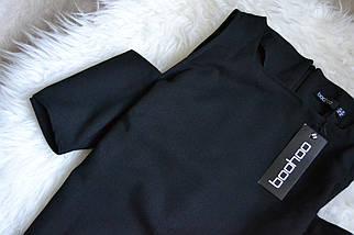 Новое черное платье с вырезами на плечах Boohoo, фото 3