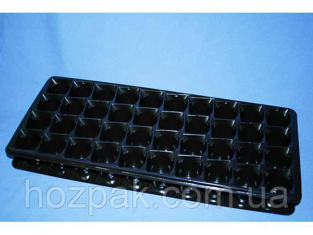 Кассета пластиковая для рассады ПС-801/802   ( 22/53см 40шт h-5см ) (50 шт)