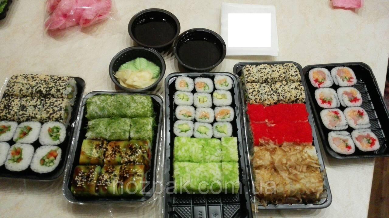 Упаковка для суши ПС-61 Д Белая (27,5/19,5/40) (50 шт)
