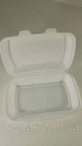 Ланч-бокс из вспененного полистирола с крышкой  (240*149*73*) белый (Р2700) (250 шт)