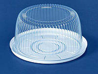 Упаковка из полистирола для торта  ПС-22 (V2100мл) Ф205*95 (200 шт)