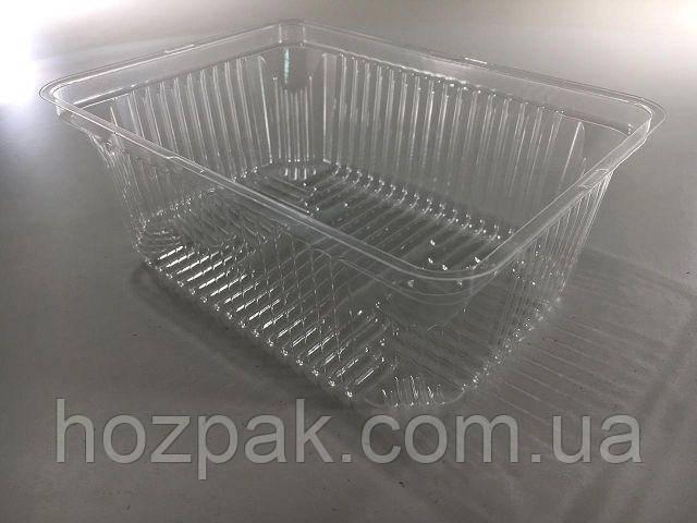 Упаковка пластиковая SL1002 (V1000мл\внутр\разм179*132*65) (50 шт)