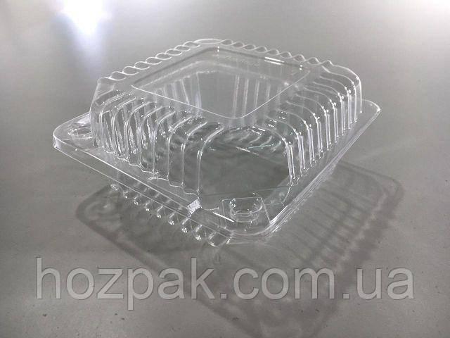 Контейнер пластиковый с откидной крышкой  SL9-1 (V500мл\119*119*25+35) (50 шт)
