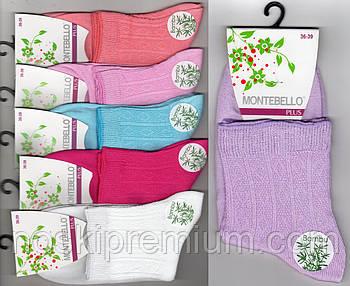 Носки женские демисезонные бамбук Montebello Plus, 36-39 размер, средние, ассорти, 02331
