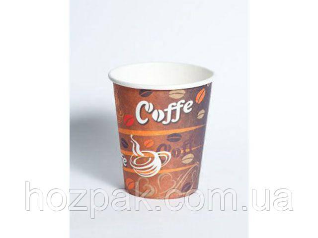 "Стакан  бумажный 175мл ""№14 Красные зерна кофе"" Маэстро (50 шт)"