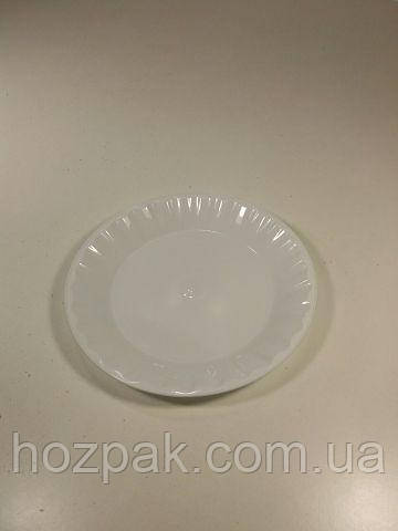 Тарелка одноразовая диаметр 165мм  белая  (50 шт)