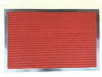 """Коврик на резиновой основе """"Полоса"""" красный 60 х 40, производство Китай"""