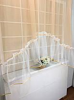 """Тюль-сетка арка """"Зефир"""", Персик (кухонные шторы), фото 2"""