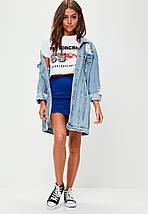 Новая короткая синяя юбка Missguided, фото 2