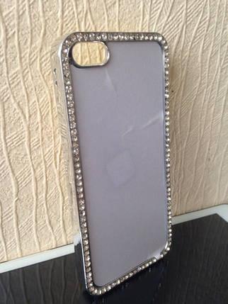 Чехол для 2D сублимации пластиковый Iphone 5/5S со стразами хромированый, фото 2