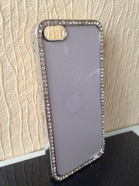 Чехол для 2D сублимации пластиковый Iphone 5/5S со стразами хромированый