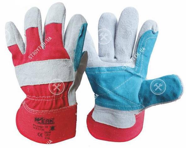 Werk WE2130 Перчатки комбинированные кожа + ткань, фото 2