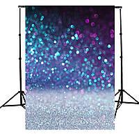 1.5x2.1M Фоновые фоны Виниловые блестящие фиолетовые фоновые фоны Студийные реквизиты