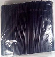 Трубочка d4.8-24см черная с гофрой  (500 шт)