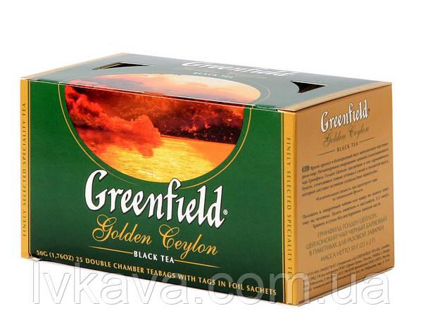 Чай черный Golden Ceylon Greenfield, 25 пак, фото 2