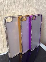 Чехол для 2D сублимации пластиковый Iphone 5/5S со стразами фиолетовый хром, фото 2