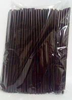 Трубочка d4.8-21см черная с гофрой (200 шт)