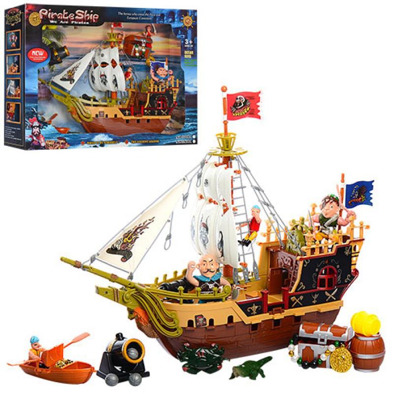 """Набор """"Пиратский корабль"""" с аксессуарами. Реалистичный большой игровой тематический набор."""