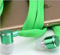 Наушники шнурки с микрофоном, вакуумные, MP3