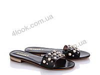 Шлепанцы женские Seekf | 8 пар в ящике | цвет-черный 36-41
