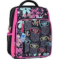 Школьный рюкзак Bagland для девочки чёрный Совы
