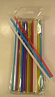 """Трубочка для коктейлів кольорова (25шт) ТМ """"Супер торба"""" (1 пач.)"""