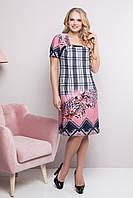 Летнее платье из масла для полных женщин Рошен пудра