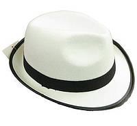Шляпа гангстера  белая