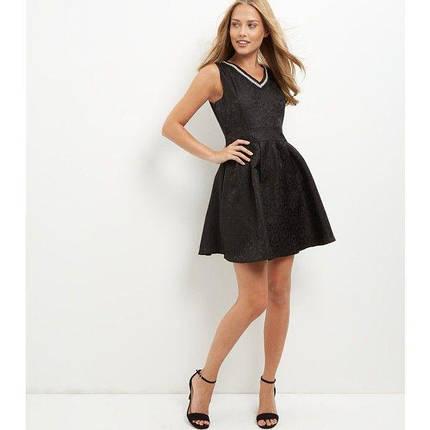 Новое черное фактурное платье Mela из каталога New Look, фото 2