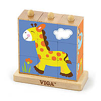 Пазл-кубики вертикальный Сафари Viga toys (50834), фото 1