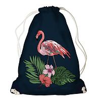 Рюкзак - мішок з принтом Фламінго