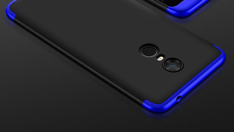 Чехол GKK 360 для Xiaomi Redmi Note 4X / Note 4 Global Version бампер оригинальный Blue+Black