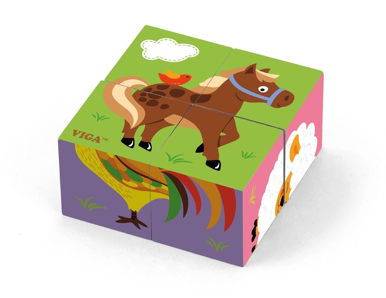 Пазл-кубики Ферма Viga toys (50835)