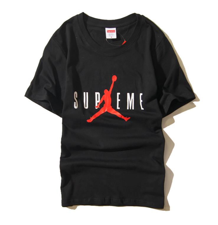 Футболка Supreme x Jordan чёрная (с качественным принтом суприм джордан мужская женская)