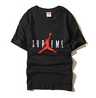 Футболка Supreme x Jordan чёрная (суприм джордан мужская женская)
