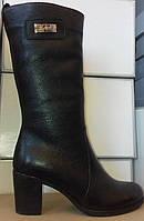 Сапоги женские зимние на устойчивом каблуке из натуральной кожи от производителя модель СВ-9, фото 1