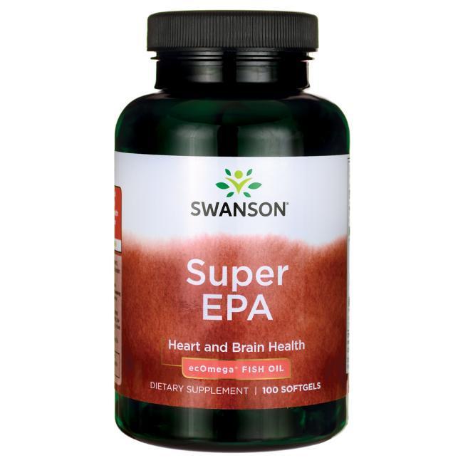Супер Омега-3, рыбий жир / Super EPA Omega Fish Oil, Swanson, 100 Sgels