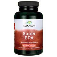 Супер Омега-3, рыбий жир / Super EPA Omega Fish Oil, Swanson, 100 Sgels, фото 1