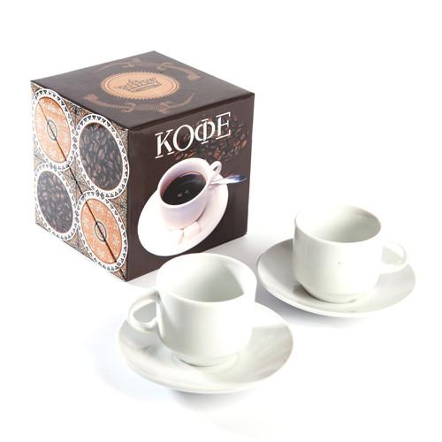 Подарунковий набір Кава - 2 чашки, книга з рецептами