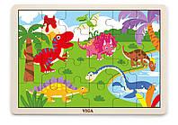 Пазл Динозавр Viga toys 24 эл. (51460)