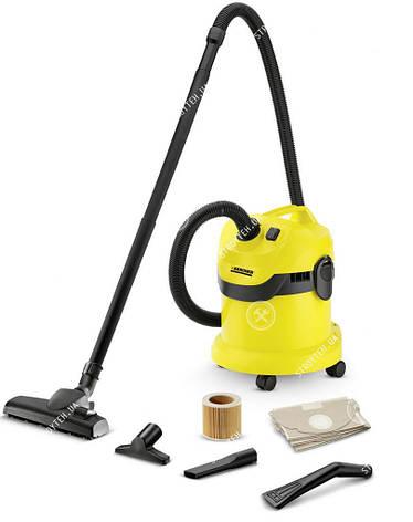 Karcher WD 2 HOME Пылесос для сухой и влажной уборки + насадка для авто, фото 2