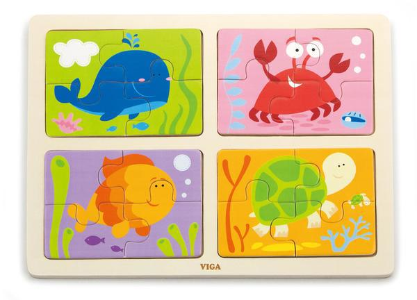 Пазл 4-в-1 Морі Viga toys (50190)
