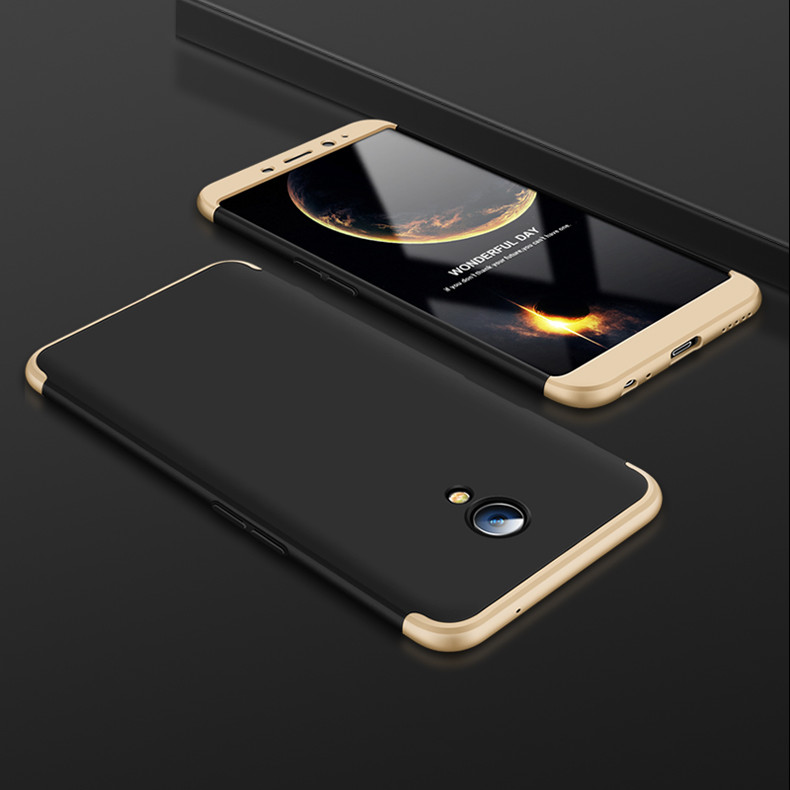 Чехол GKK 360 для Meizu M6S бампер оригинальный Black-Gold